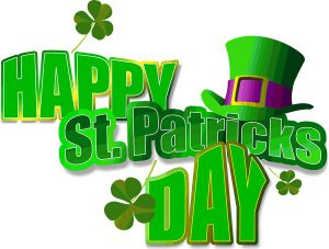 Closed for St.Patrick's Day and Monday 20th